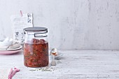 Pickled oven-roasted tomatoes with rosemary
