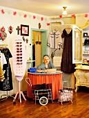 Lena Hoschek in her shop in Vienna, Austria