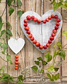Heart-shaped wreath of crab apples