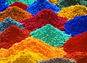 Mounds of pigment