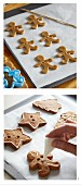 Decorating gingerbread people