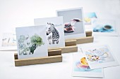 DIY wooden picture holders