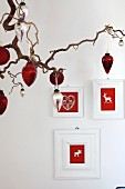 Hand-crafted picture frames with festive motifs in felt