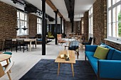 Classic furniture in former industrial building