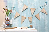 Bunting hand made from old book pages
