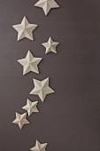 Decorative card stars on grey background