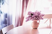 Bouquet of lilac in jug