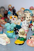 Kitsch collection of small animal figurines