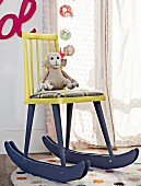 DIY rocking chair made from old wooden chair
