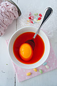 Dying Easter eggs orange
