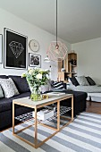 Modern studio apartment in Scandinavian style