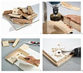 Instructions for making artwork from wooden remnants
