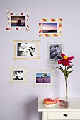 DIY picture frames made from newspaper or old wrapping paper