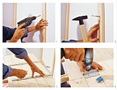 Instructions for cladding wall in tongue and groove boards