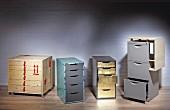 Schubladencontainer mit aufgepepptem Design