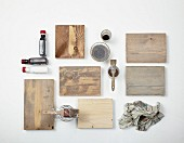 Various examples of shabby-chic wood stains