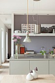 Modern kitchen in shades of grey
