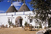 Sunny terrace outside trullo
