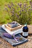 Gifts of lavender soap and lavender oil