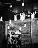 Pendant lamps, Restaurant Charango, Cape Town, South Africa