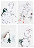Instructions for making paper doll