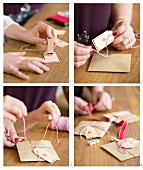 Instructions for making an Advent calender from stamped, numbered envelopes