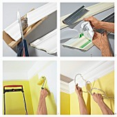 Instructions for making stucco moulding with integrated rope lights for indirect lighting