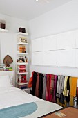 Practical storage ideas in small bedroom