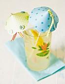 Paper umbrellas in cocktail glass