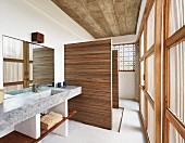 Bathroom in contemporary house