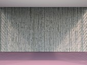 3D rendering of empty room with concrete wall