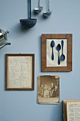 Recipe, photo and spoons as mementos of grandmother