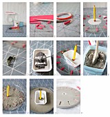Instructions for making a concrete clock