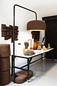 Objets d'art and standard lamp made from cork