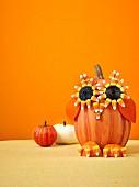 Halloween pumpkin owl