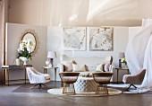 Elegant living room in Golden Twenties style