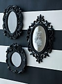 Halloween mirrors with ornate black frames