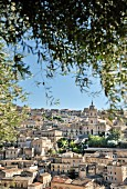 Picturesque view of Modica with Baroque church