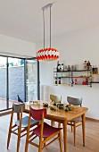Retro style dining room