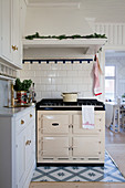 Vintage-style AGA cooker in Swedish country-house kitchen