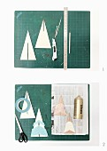 Instructions for making plywood Christmas-tree ornaments