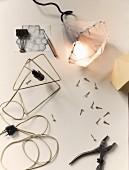 Hand-made geometric lamp
