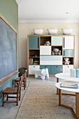 Modern nursery in Scandinavian designer style