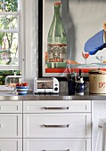 White kitchen unit with retro flair