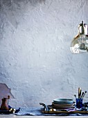 Cutlery and hanging light