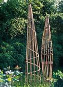 Climbing frame made of bamboo poles and wickerwork