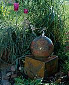Installing water feature in the garden