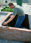 Planting of a vegetable garden in raised beds