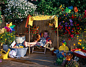 Balcony for children: Daisies stalks