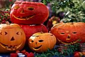 Hollowed out pumpkins for Halloween